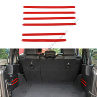For Jeep Wrangler JL 2018+ Trunk Decor Sticker Trim Cover ABS Car Styling Accessories