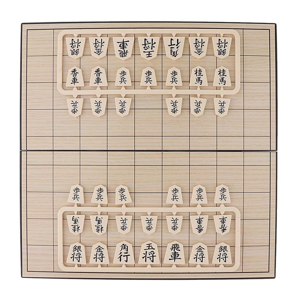Shogi Travel Game Set Japanese Chess 9.84 Inch Folding Board Game Pieces For Children Birthday Christmas Gifts