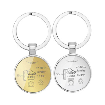 Round Baby Keychain Personalized Name Date Of Birth Weight Time Height For Newborn Commemorate Llavero Personalizado Key Ring impact of environmental chemicals on fetal birth weight