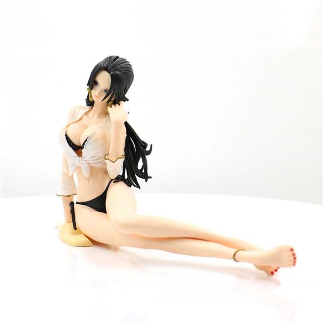 12 Centimetri Figura Anime di Un Pezzo Boa Hancock Nami Costume da Bagno Sexy Seduta Ver. Pvc Action Figure Femminile Collection Model Toy con La Scatola