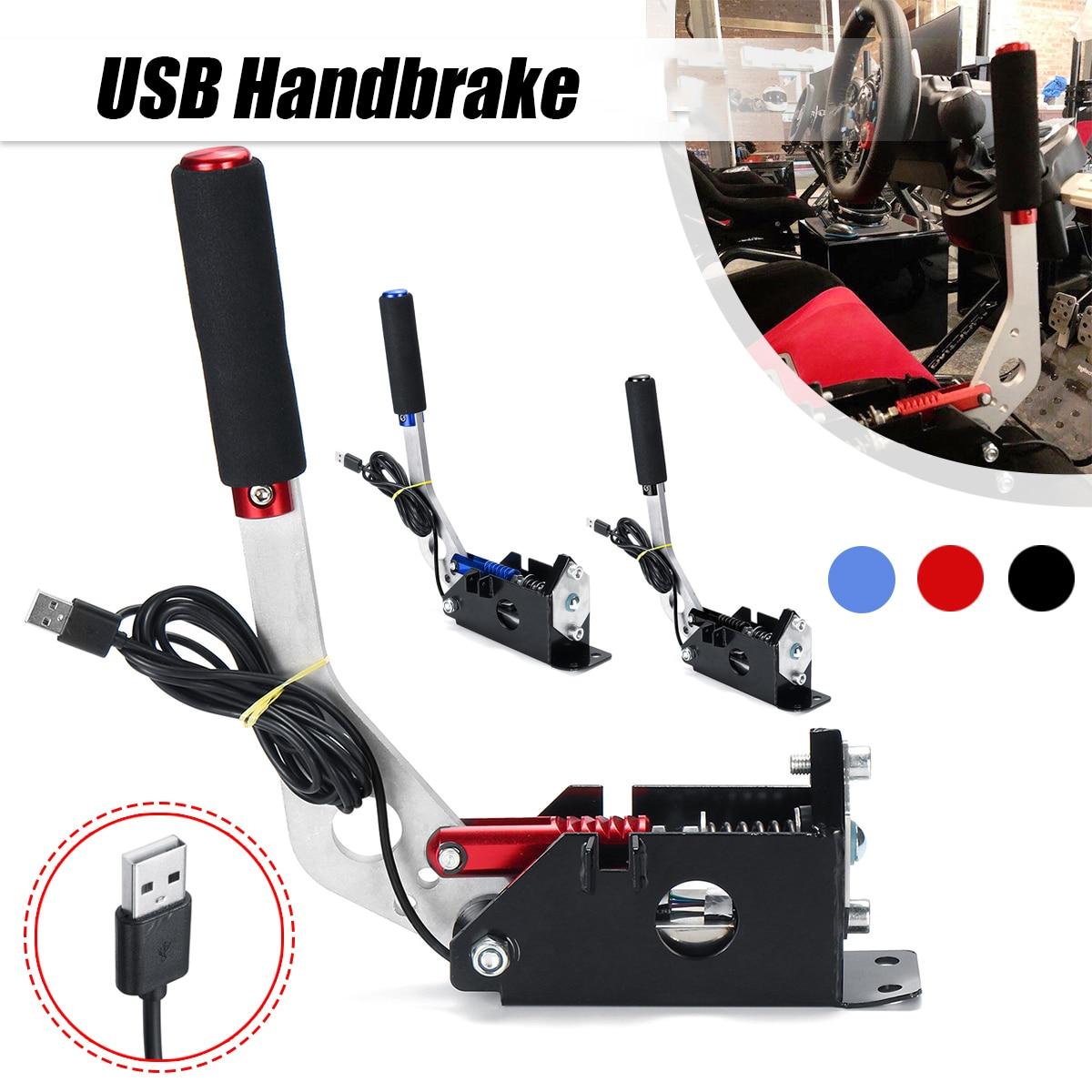 CNC Aluminum PC Gmae USB Handbrake for Sim Racing Game for Logitech G25 G27 G29 T500 T300 FANATECOSW for LFS DIRT RALLY