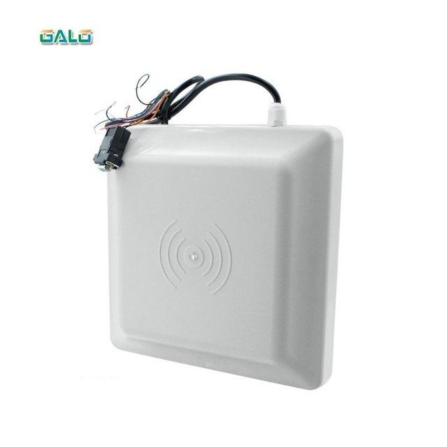 Avec 2 étiquettes UHF en pvc, portée de lecture maximale de 7m, lecteur uhf passif rfid longue portée WG26/lecteur de contrôle RFID