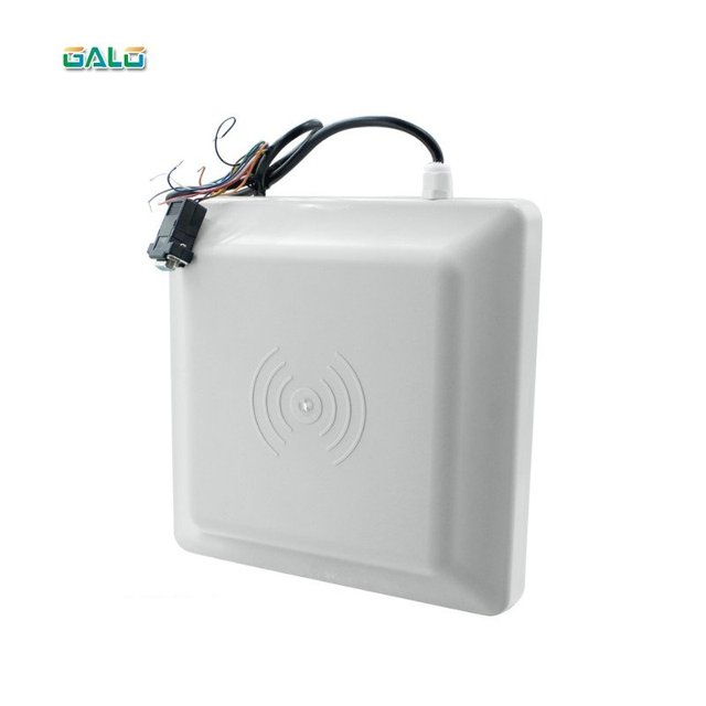 with 2 pvc UHF tags MAX 7m reading range Long range passive rfid uhf reader WG26/Lector de Largo Alcance RFID control de acceso