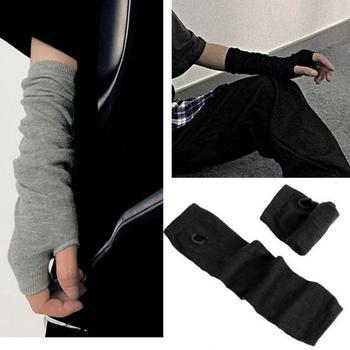 2020 ins wiosna lato sport długi ogień Ninja rękawiczki z dzianiny Yamamoto ciemne męskie i damskie moda pół ochraniacze na palce rękawiczki tanie i dobre opinie SHE S CHIC Dla dorosłych CN (pochodzenie) Akrylowe W paski Elbow