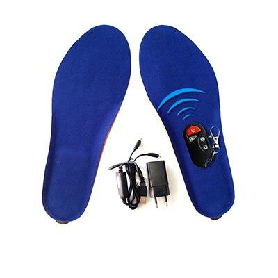 Стельки с электрическим подогревом, с пультом дистанционного управления, на батарейках, для женщин, зимняя обувь для катания на лыжах, для катания на природе, размеры EUR 35-46 - Цвет: Blue