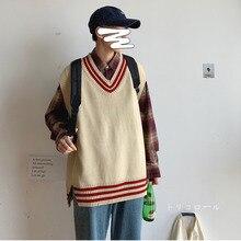 Осенне-зимний мужской свободный свитер с круглым вырезом в Корейском стиле Модная рубашка пуловер M-2XL