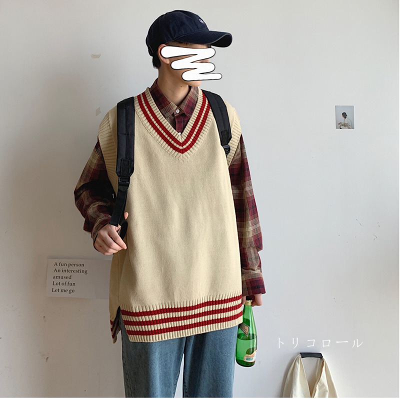 2019 Autumn And Winter New Men's Loose Round Neck Sweater Bottoming Korean Version Of The Trend Shirt Pullover M-2XL