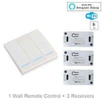 QIACHIP WiFi Smart Schalter Drahtlose Fernbedienung Licht Timer Relais Schalter AC 110V 220V Home Automation Arbeit Mit amazon Alexa