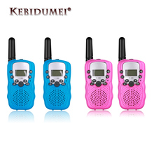 New 2pcs Mini Walkie Talkie Kids Radio Station T388 0.5W PMR PMR446 FRS UHF Portable Radio Communicator Gift For Child