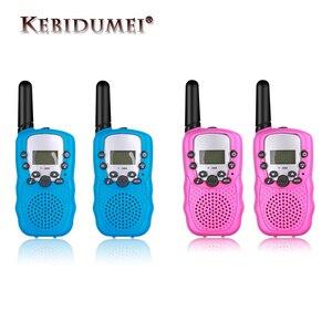 Image 1 - Nouveau 2 pièces Mini talkie walkie enfants Radio Station T388 0.5W PMR PMR446 FRS UHF Portable Radio communicateur cadeau pour enfant