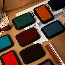 1Pcs Retro Color Stamp Pads Washable Ink Pads For Kids Craft Ink Stamp Pads For Rubber Stamps Paper Scrapbooking Wood Fabric