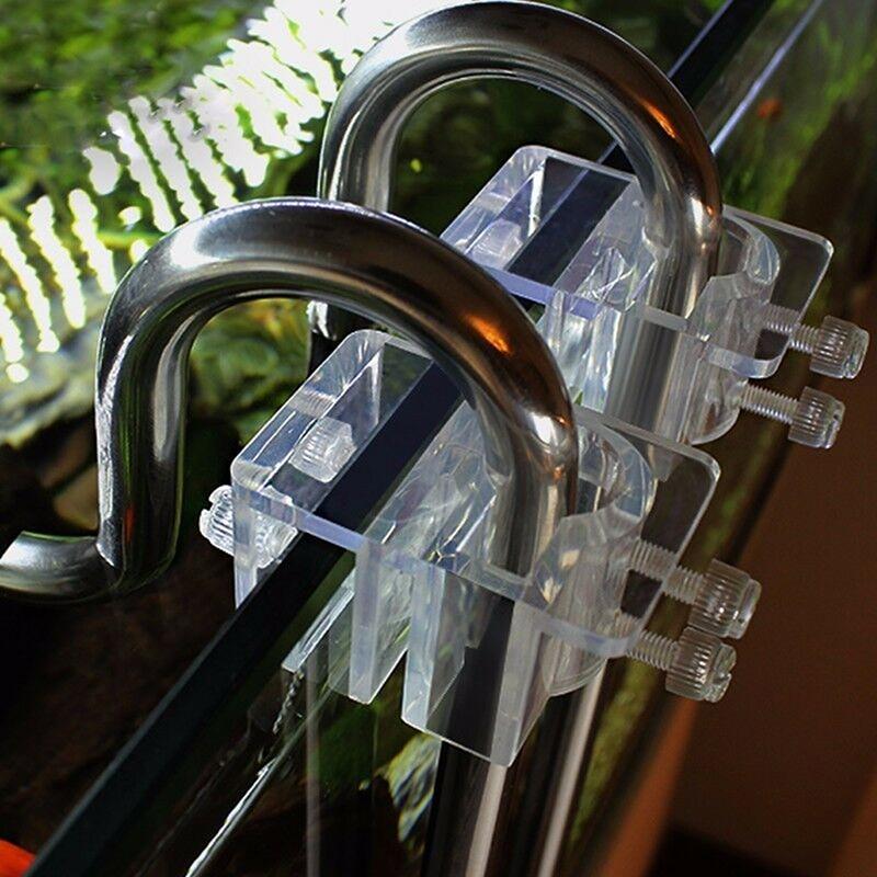 1 Pc Acrylic Transparent Aquarium Hose Fixing Clip Fish Tank Water Pipe Hose Fixing Clip Tube Clamp Holder