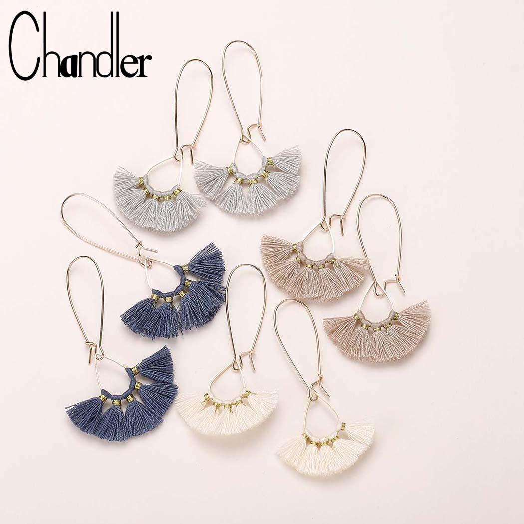Fashion Longue Chaîne Crochet Tassel Cristal Stud Drop Dangle Boucles d/'oreilles Femmes Bijoux