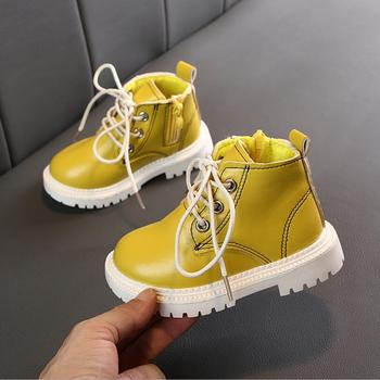 Kids Boots for Girls Boys Baby Toddler Martin Boots Fall 2019 Rainbow Children Ankle Boots Zip kindergarten 1-5 Years