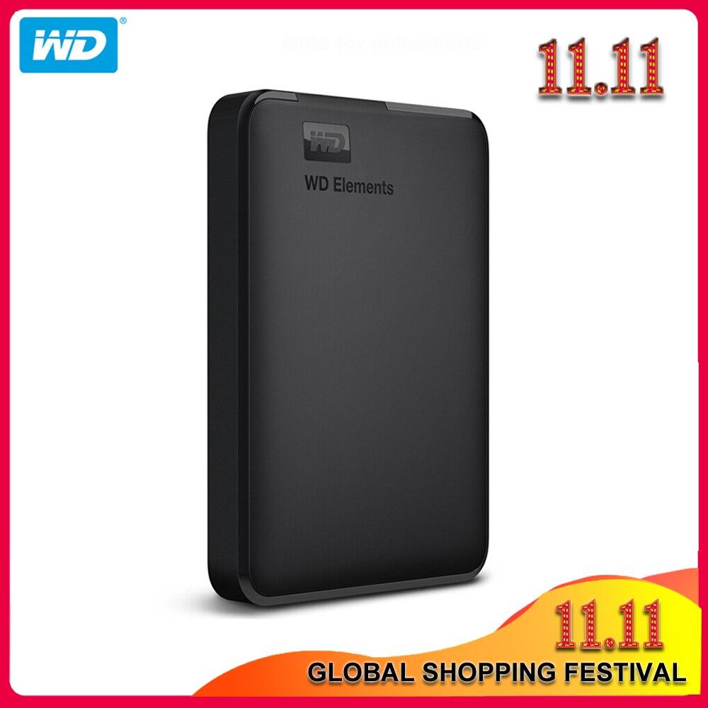 Western Digital Elements disque dur externe HDD, 100% Original, USB 3.0, avec câble de 1 to, 2 to, 4 to, pour PC Portable