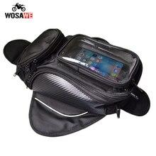 цена на Motorcycle Tank Bag Waterproof Motorbike Oil Fuel Saddle Bag Magnetic Shoulder Bag Phone Case For IPhone Xiaomi Big Touch screen