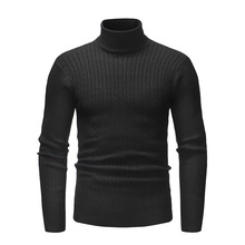 Men's Sweater Turtleneck Pullover Fashion Basic Tops Men Sweaters Winter Black White Knitwear Warmness Jumper 2020 Spring 3XL