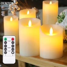 3 Pçs/set LED Chá Velas Sem Chama Bruxuleante luz de Velas Remoto Alimentado Por Bateria para Festa de Aniversário de Casamento Decoração de Casa