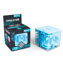 Maze Cube Stress-Toy Money-Bank Puzzle Brain-Game Magic Square Best-Moyu Steel-Ball Kids