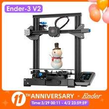 Neueste 3D Drucker Ender-3 V2 32Bits Mainboard Stille TMC2208 Stepper Treiber 4,3 Zoll Touch Lcd Carborundum Glas Bett Creality