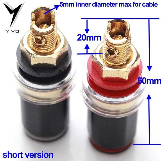 8pcs high-grade Speaker horn power amplifier Terminal Long Short Binding post un-welding Screw Female Banana connector Plug