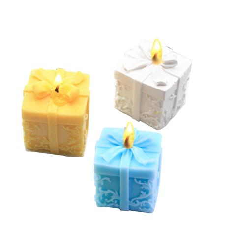 3D Christmas Gift Box Shape Candle Silicone Mold DIY Soap Aroma Candle Mold Craft Tool Handmade Soap Mold Silicone Mold Karachi