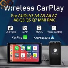 Sinairyu Không Dây Apple Carplay Android Auto Mô Đun Cho Xe Audi B9 A5/S5/A4/A3 A6 A7 A8 q2 Q3 Q5 Q7 B9 S5 MMI Hỗ Trợ Hệ Thống Gương