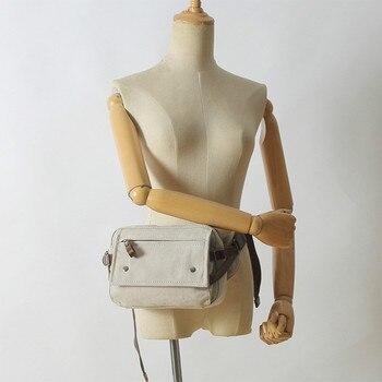 цена Retro Trend Male Breast Package Outdoor Leisure over-the-Shoulder Bag Multifunctional Single-Shoulder Bag Women Canvas Bag онлайн в 2017 году