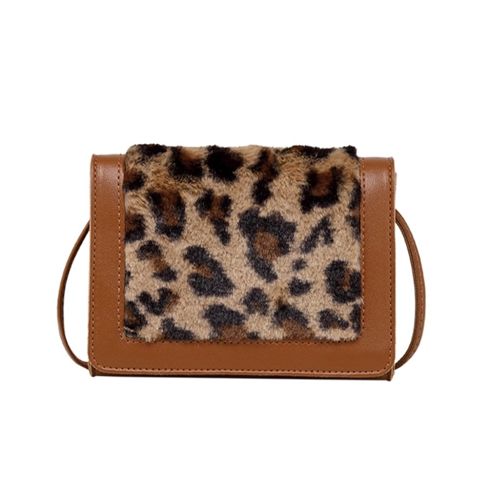Women Bags Mini New Fashion Plush Bag 2019 Leopard Shoulder Messenger Bag Small Square Bag bolsa feminina (41)