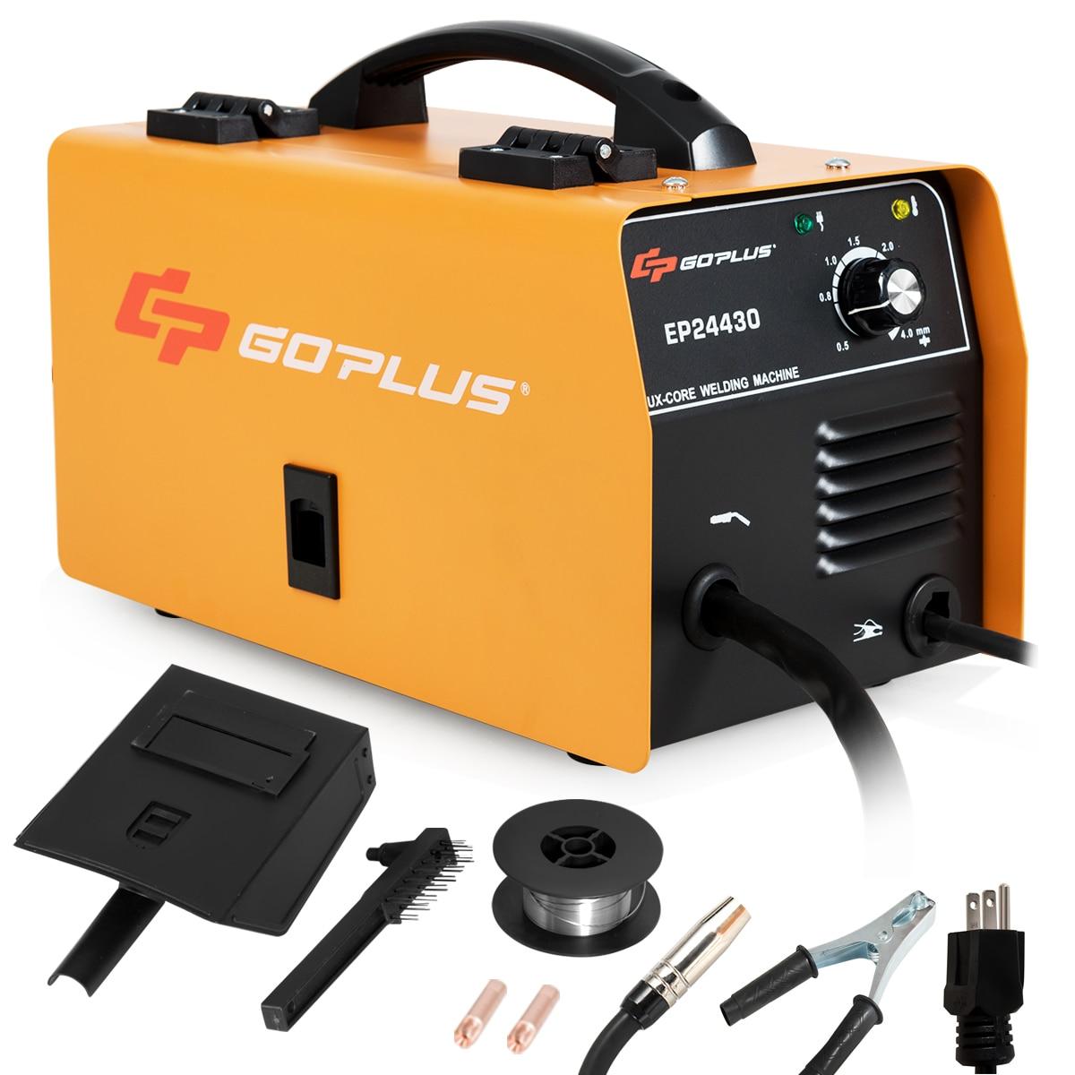 Goplus MIG 130 Welder No Gas Flux Core Wire Automatic Feed Welder IGBT Inverter