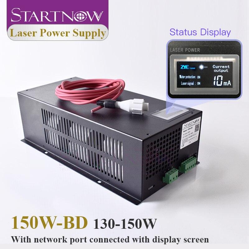 Лазерный источник питания Startnow 150W BD CO2, 150 Вт с дисплеем для 130 Вт лазерной трубки, Высоковольтная режущая машина, лазерные аксессуары