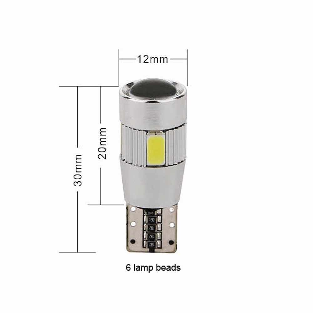 Kongyide Mobil 2X T10 501 194 W5W 5630 LED 6 SMD HID CANBUS Kesalahan Gratis Mobil Sisi Wedge Light LO3 Dome/Festoon/Resding Cahaya