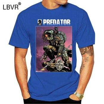 Camiseta Predator estilo cómic para hombre, camiseta de alienígenas de película, Camiseta...