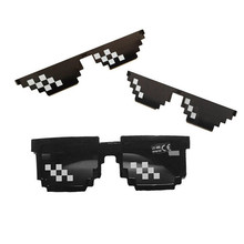 Hot Thug Life Glasses Women Cute Toy Deal With It Eyewear Party Sun Pixel Men Black Shades Mosaic Sunglasses