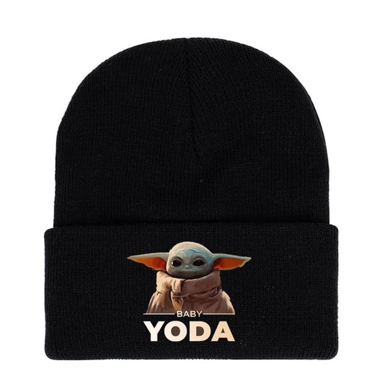 Star Wars Mandalorian Baby Yoda Character Toy Baby Warm Knit Hat Children's Birthday Gift