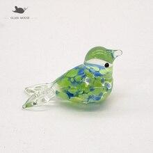 Miniature murano glass bird decorative Figurine Home garden decor accessories lovely Fresh style handmade glass Animal