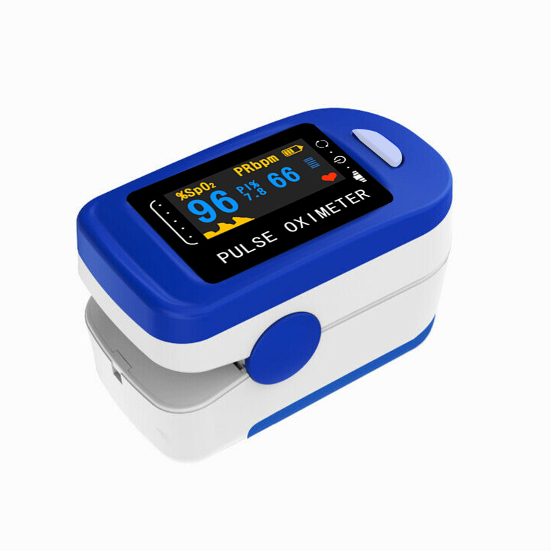 Pulso oximétrico fingertip pulso oxímetro oxigênio no sangue monitor de pulso dedo saturação medidor transporte da gota