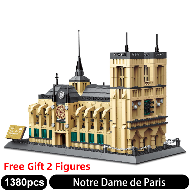 5210 1038 pièces blocs de construction d'architecture de renommée mondiale le français Notre Dame de Paris modèle 3D briques ensembles enfants jouets cadeaux