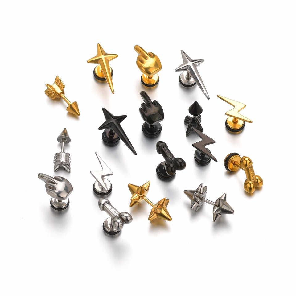 קסם דיק פין כוכב גוף Jewelries פאנק שפתיים פירסינג תכשיטי גברים Steampunk לנשים מתכת זהב כסף שחור חג המולד מתנות