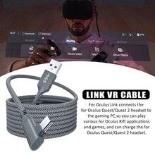 5M נתונים קו טעינת כבל עבור צוהר Quest 2 קישור VR אוזניות USB 3.0 סוג C נתונים העברת USB A כדי סוג C כבל VR אבזרים