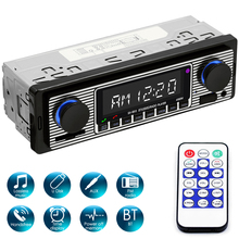Carro bluetooth tda7388 usb2.0 estéreo do carro digital mp3 player fm rádio digital com controle remoto mãos-livres callstime display