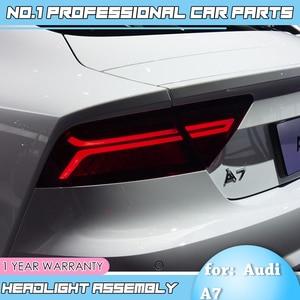 Image 3 - Accessoriestail luz do carro para audi a7 luzes traseiras 2011 2017 led luz da cauda lâmpada traseira em movimento turn signal luz lanterna traseira