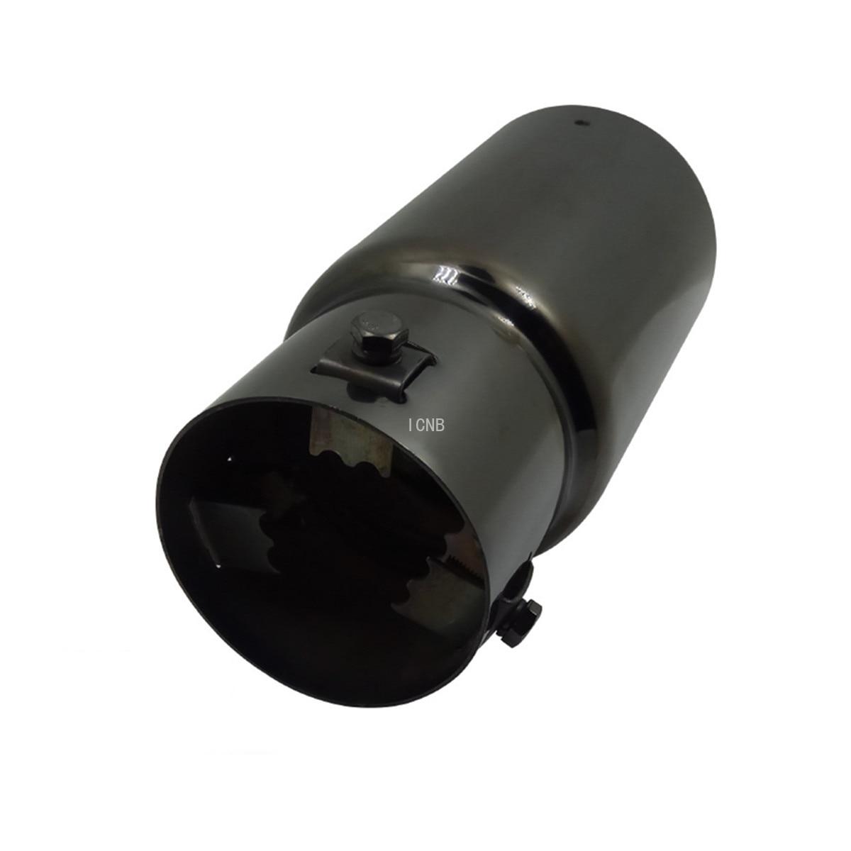 Черная титановая задняя горловина из нержавеющей стали для Toyota Prado 120/150 2003 2004 2005 2006 2007 2008 2009 2010 2011-2014-2018 2019
