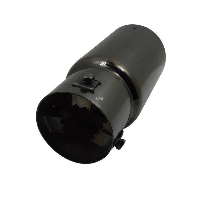 Stainless Steel Black Titanium Tail Throat for Toyota Prado 120/150 2003 2004 2005 2006 2007 2008 2009 2010 2011 2014 2018 2019