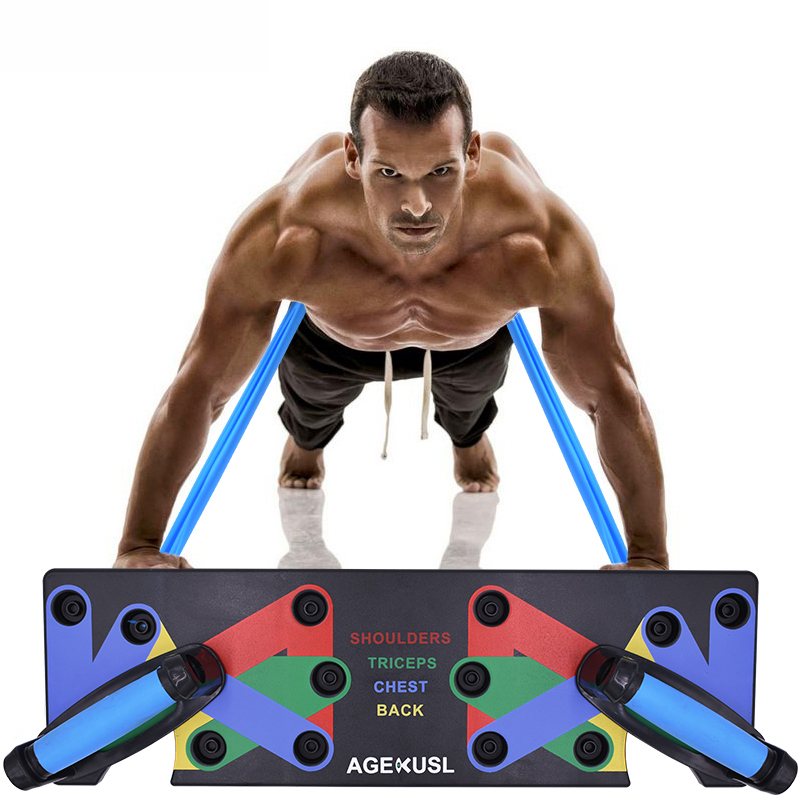 Molibays Push Up Rack Board Gym 9 in 1 Multifunction Fitness Exercise Push-up Stands Comprehensive Workout Bodybuilding Bars