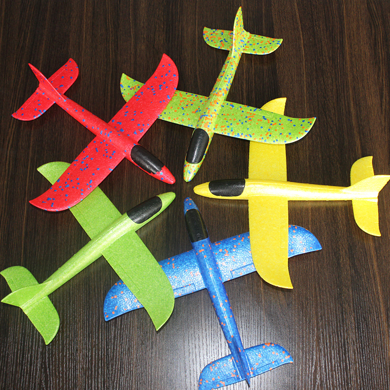 35 CM/48CM Hand Throwing Glider Planes Toys Long Distance Flight Epp Foam Fillers Aeroplane Mode Flying Toys For Children Gifts(China)
