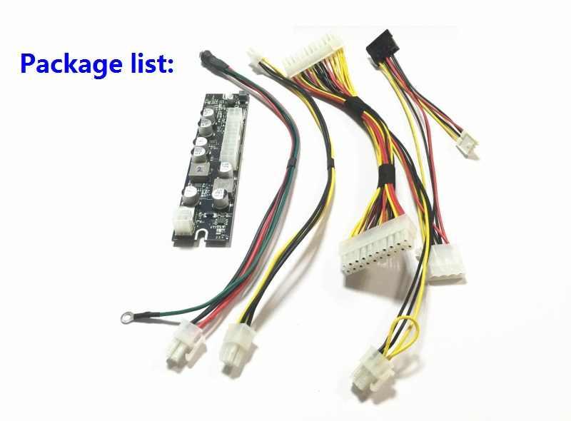 Fuente de alimentación de alta potencia 250W DC 12V entrada ATX Peak PSU Pico ATX interruptor minero PSU 24pin MINI ITX DC a Car ATX PC fuente de alimentación para ordenador