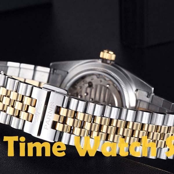 Карнавал мужские бизнес Тритий Светящиеся автоматические механические часы наручные часы золотой ободок белый циферблат - 5