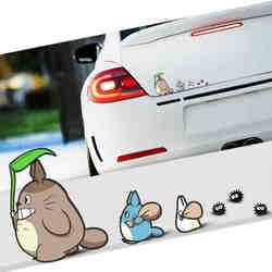 18 см * 9 см для Tonari Totoro наклейки для автомобиля для укладки волос Аниме комиксов Hellaflush авто окна виниловые наклейки аксессуары для лобового с...