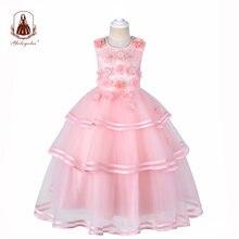 Yoliyolei детское платье для девочек с цветами свадебное банкетное